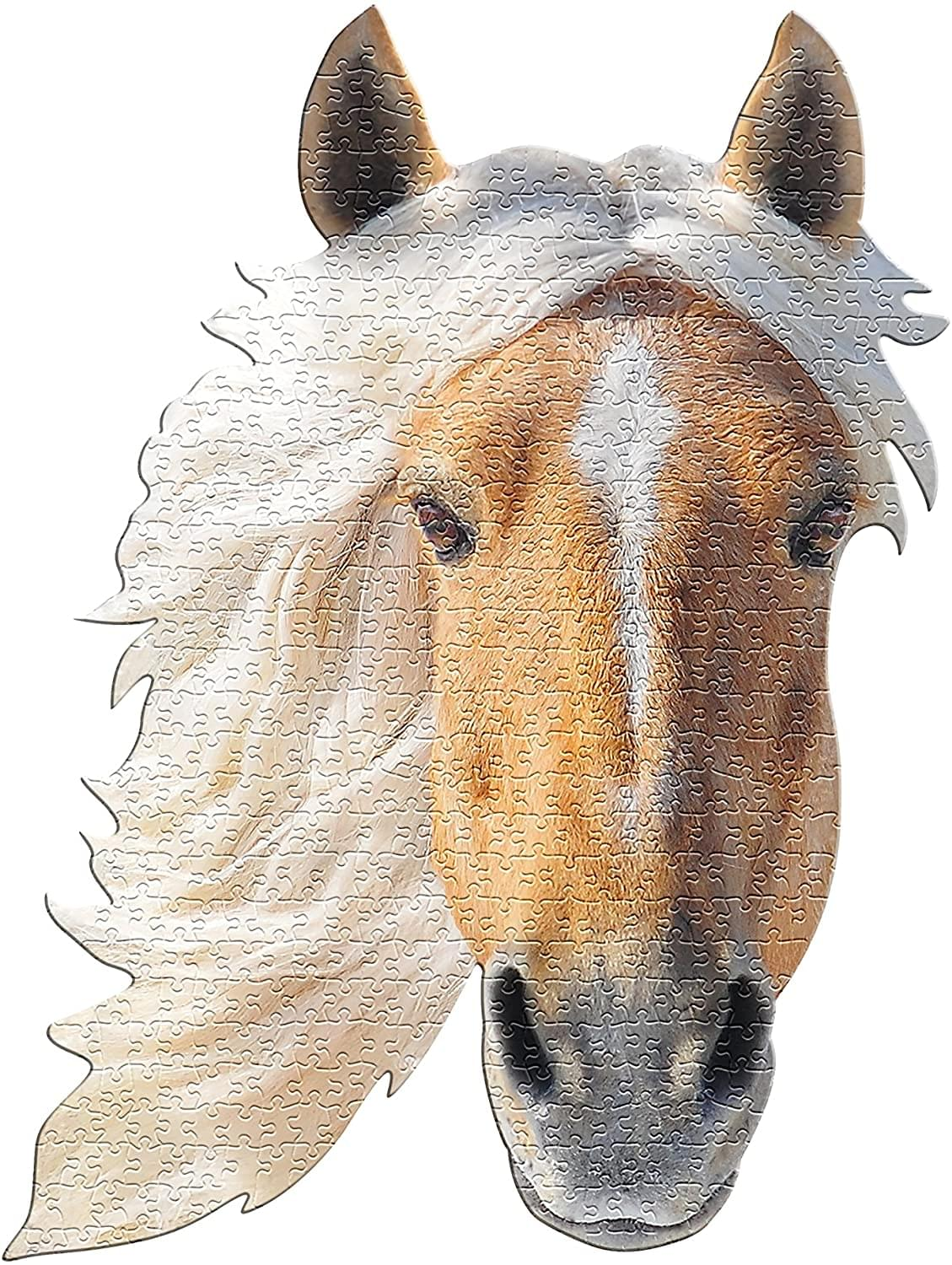 I AM Horse 550 Piece Animal Head-Shaped Jigsaw Puzzle