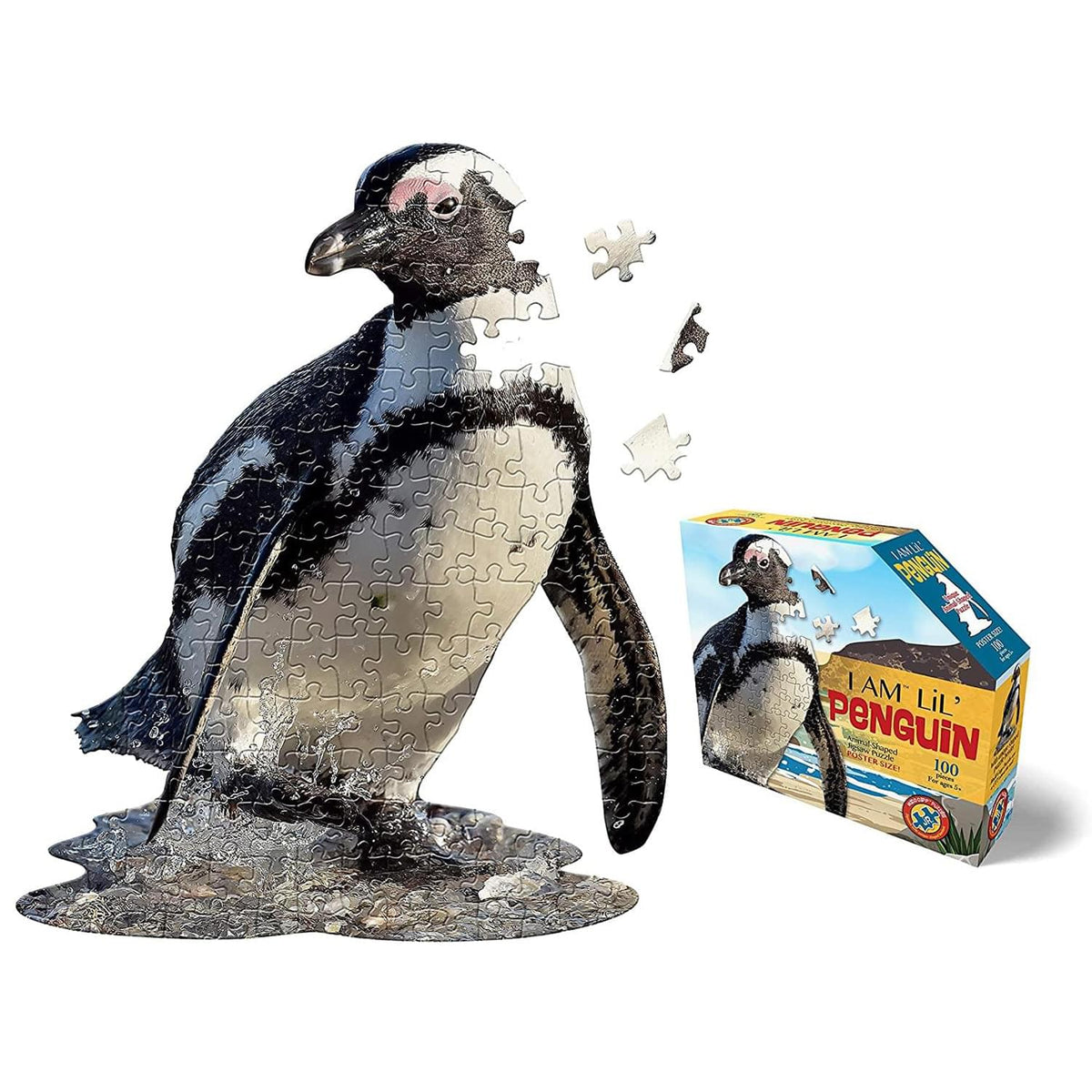 I AM Lil Penguin 100 Piece Animal-Shaped Jigsaw Puzzle