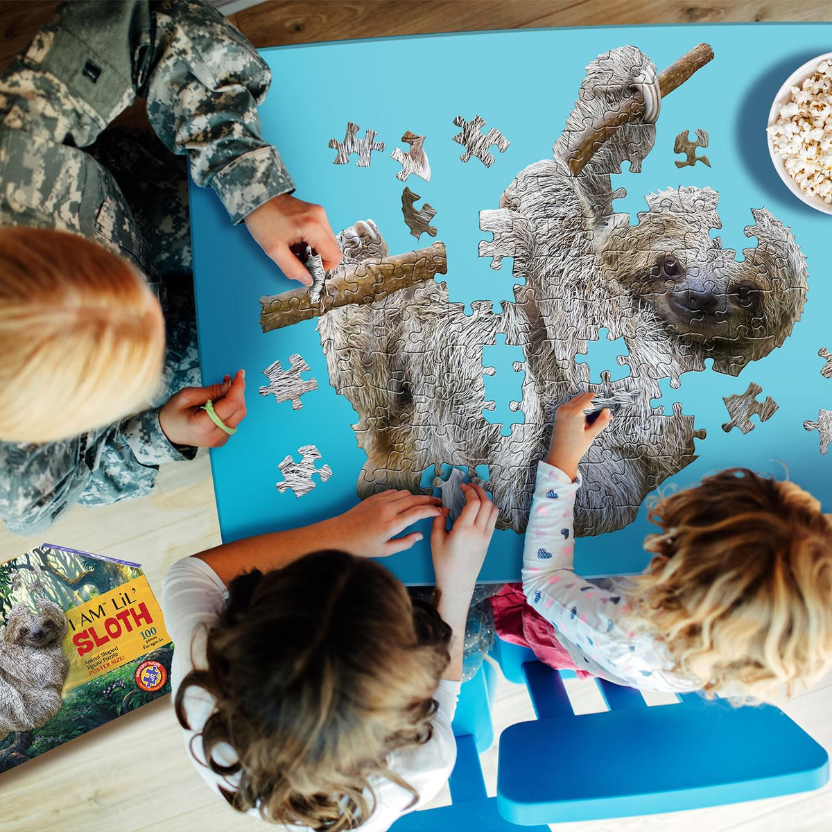 I AM Lil Sloth 100 Piece Animal-Shaped Jigsaw Puzzle