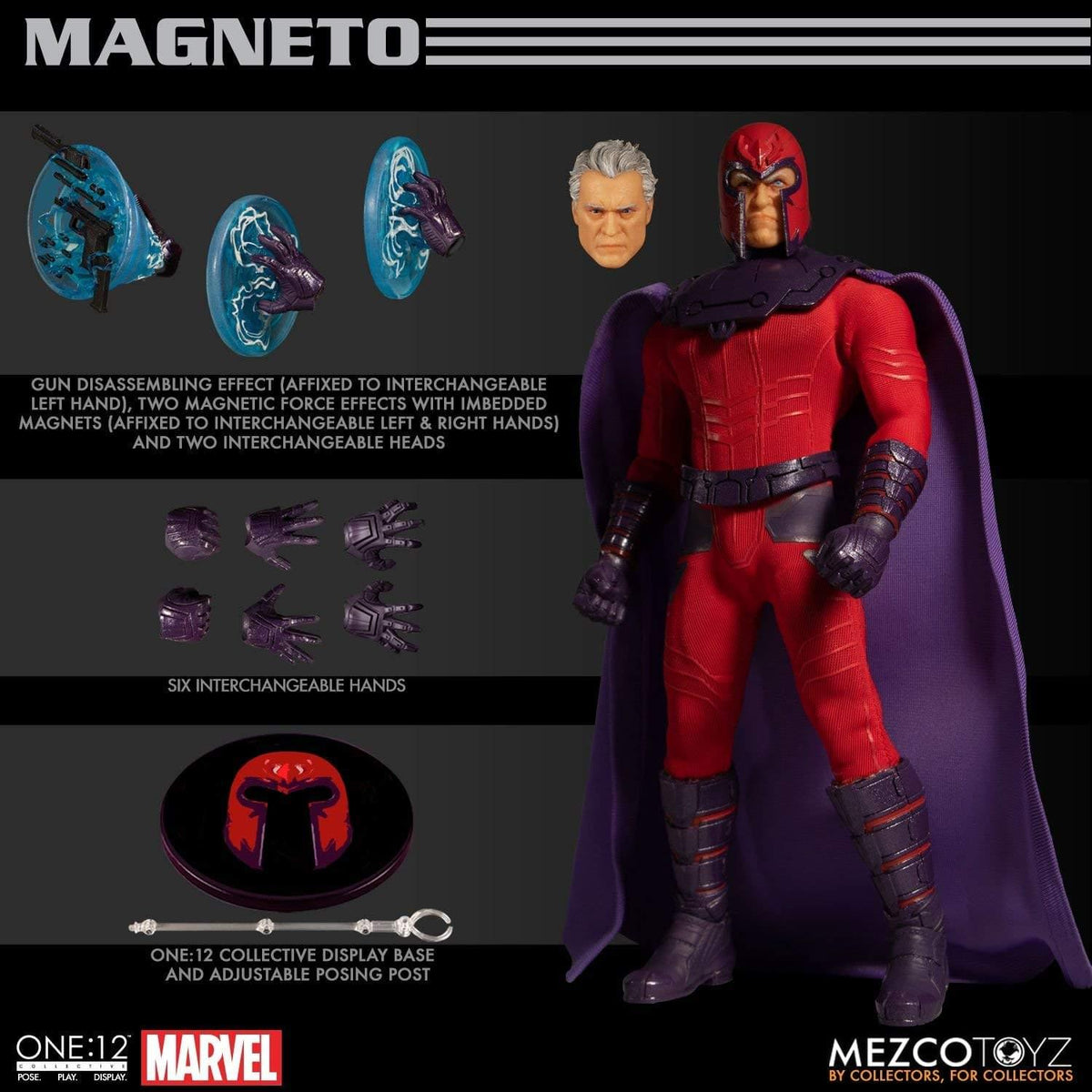 Marvel One 12 Collective Action Figure | Magneto