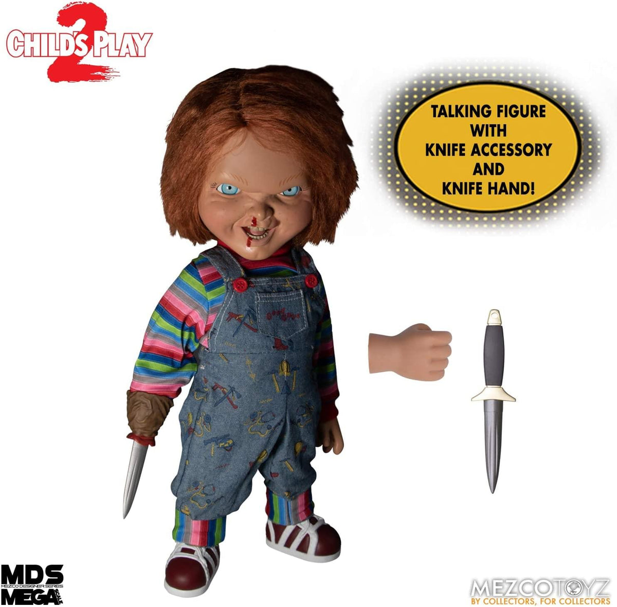 Childs Play 2 Mega Scale 15 Inch Talking Menacing Chucky Figure