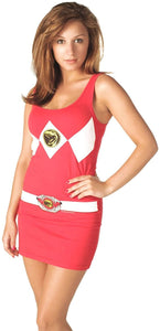 Power Rangers Red Power Ranger Adult Tank Dress Small