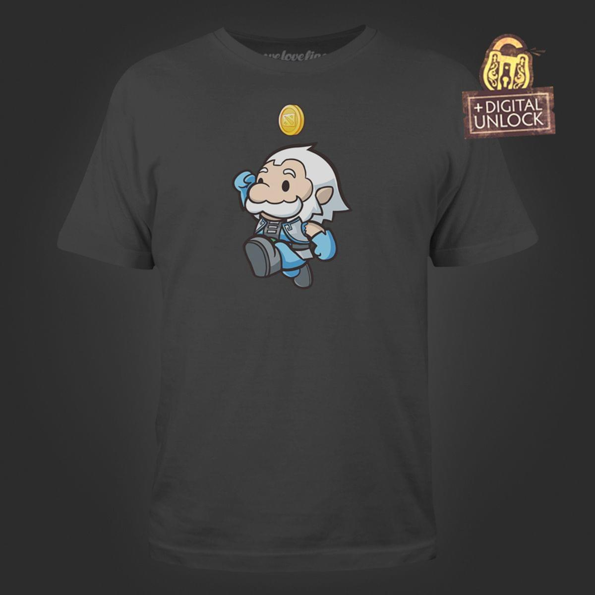 DOTA 2 Heavenly Jump Men's Charcoal Tee with Digital Unlock Code