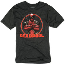 Load image into Gallery viewer, Marvel Comics Stern Deadpool Adult T-Shirt Medium