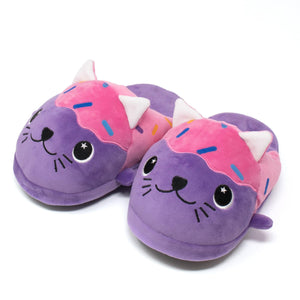 Moosh-Moosh Adult Plush Slipperz - Freckles the Donut Cat