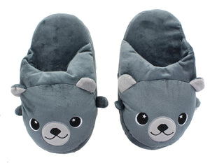 Moosh-Moosh Adult Plush Slipperz - Cody the Grey Bear