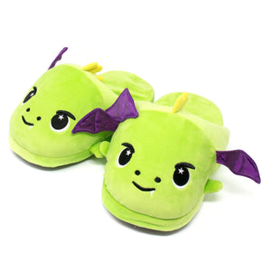 Moosh-Moosh Adult Plush Slipperz - Drac the Green Dragon