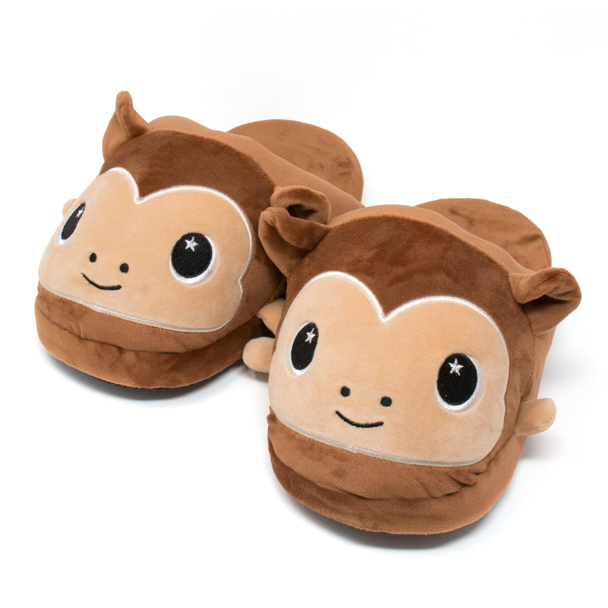 Moosh-Moosh Adult Plush Slipperz - Brown Chunky Monkey