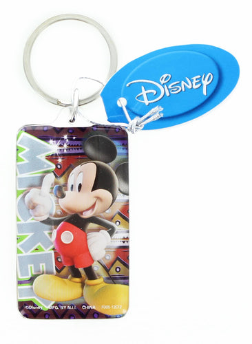 Disney Mickey Mouse Rectangular Lucite Key Ring