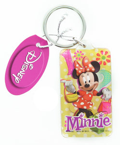 Disney Minnie Mouse Rectangular Lucite Key Ring
