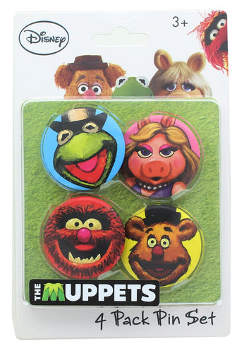 Disney The Muppets 1.25 Inch Collectible Button Pins | Set of 4