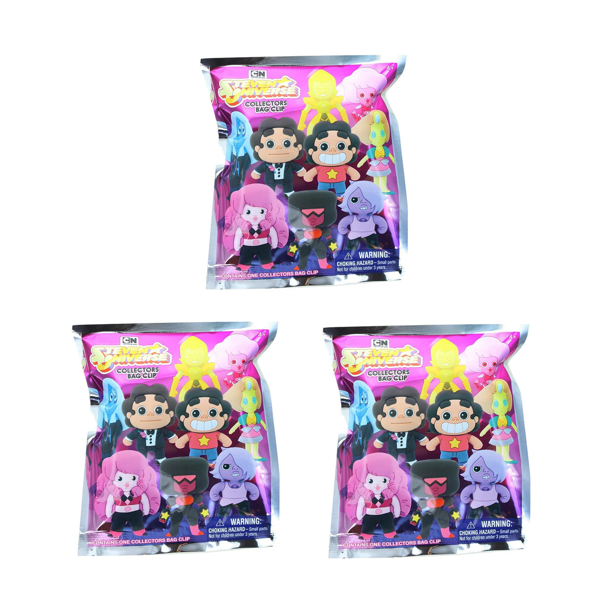 Steven Universe Blind Bag Foam Figural Key Ring | Lot of 3