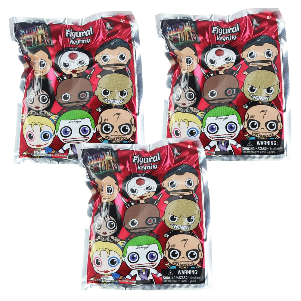 Suicide Squad Blind Bag Key Chain, Lot of 3