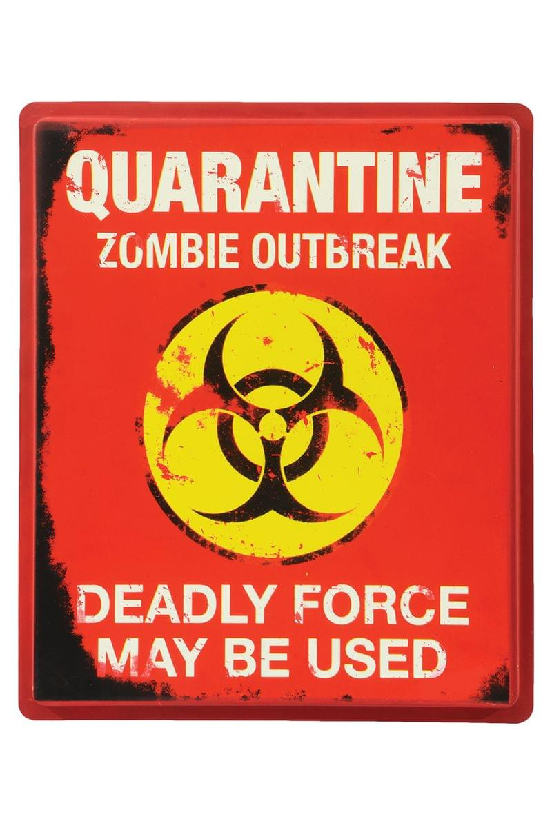 Quarantine Sign Halloween Party Decoration