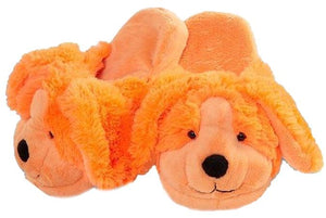 My Pillow Pets Neon Orange Dog Slippers