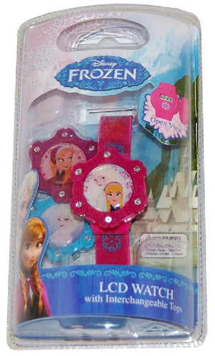 Frozen LCD Watch With Interchangeable Tops