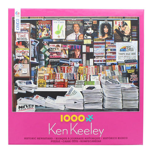 Ken Keeley Historic Newsstand 1000 Piece Jigsaw Puzzle