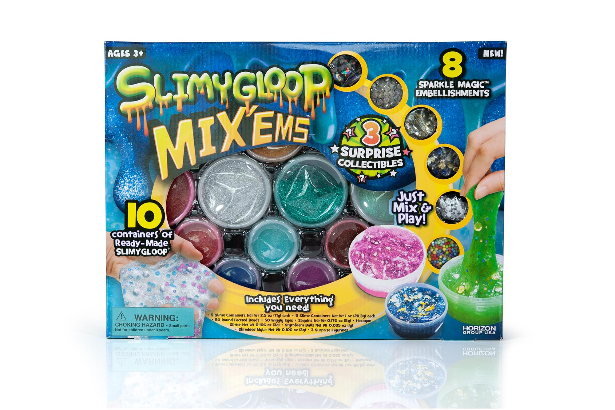 20 containers of Slimygloop Toy338 SlimyGloop Mix/'ems