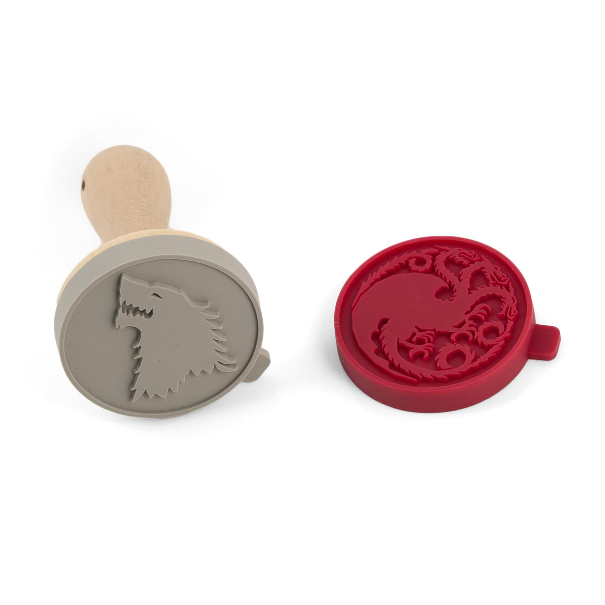 Game Of Thrones Silicone Cookie Stamps | Dire Wolf & Dragon Stamps | Set Of 2