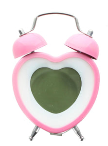 Heart Shaped Twin Bell Digital Alarm Clock, Pink