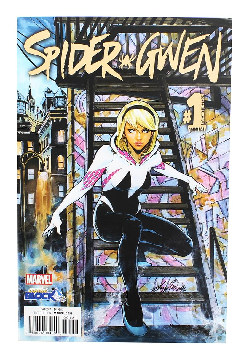 Marvel Spider-Gwen #1 Comic Book (Comic Block Variant Cover)