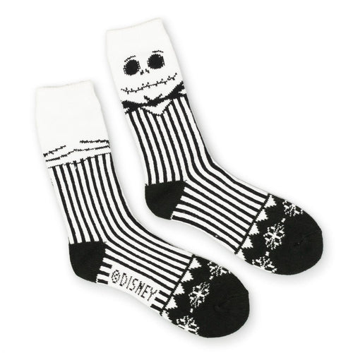 Jack Skellington Nightmare Before Christmas Striped Sweater Socks size 10-13