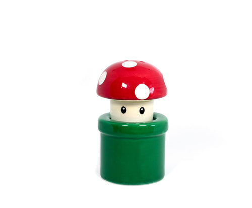 Super Mario Bros. Red Mushroom & Warp Pipe Salt & Pepper Shakers | Set Of 2