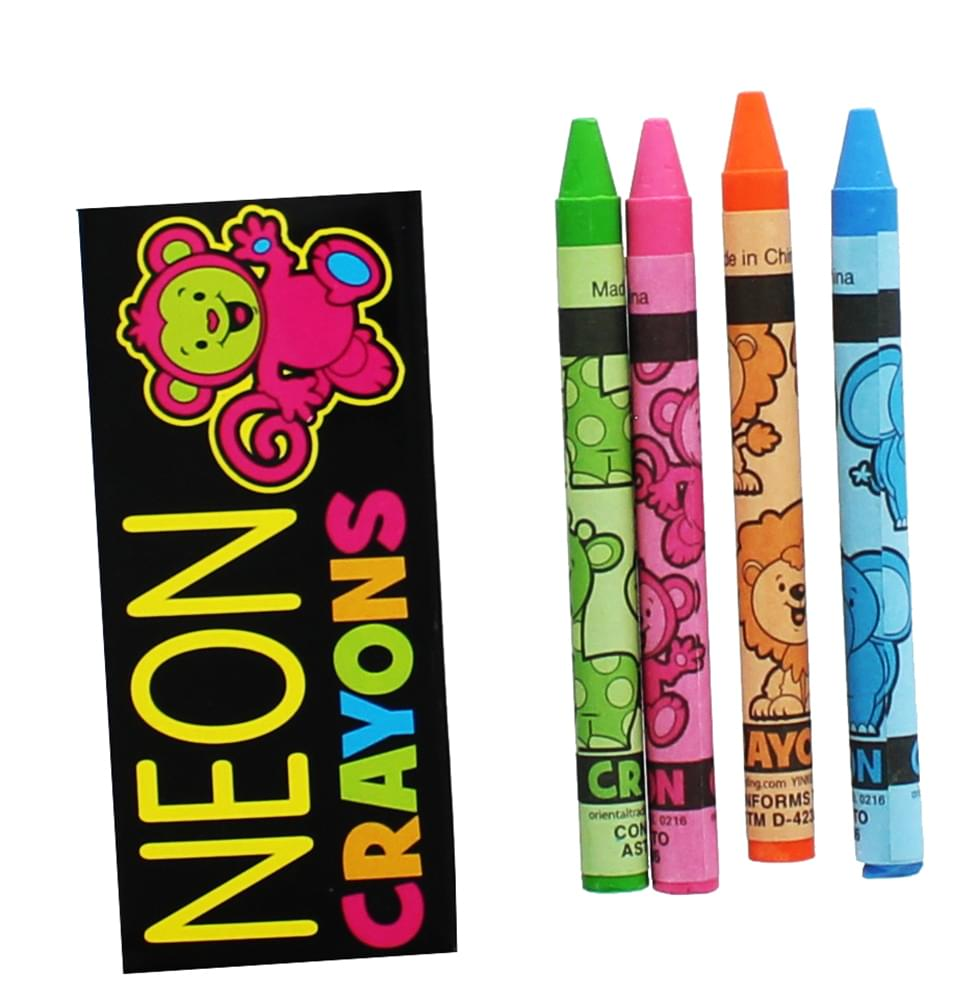 Neon Crayons 4-Pack