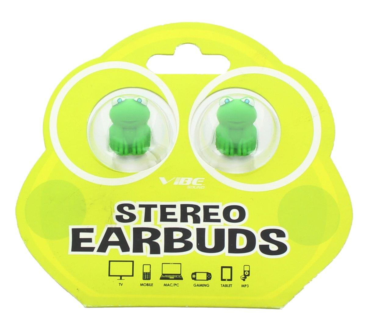 Vibe Molded Frog In-Ear Earbuds