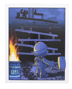 Donkey Kong 8x10 Art Print by Russ Moore (Arcade Block Exclusive)