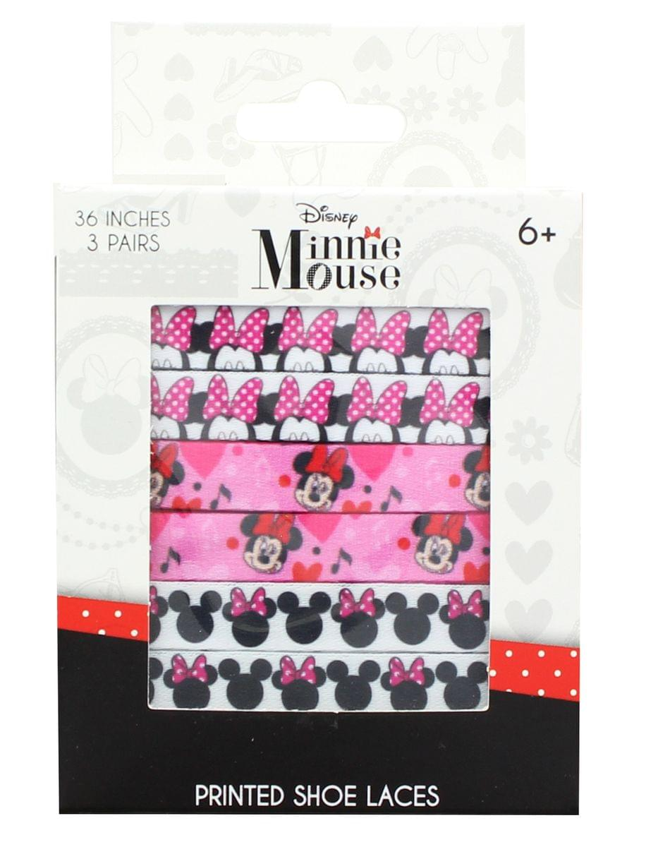Disney Minnie Mouse Printed Shoelaces, 3 Pairs