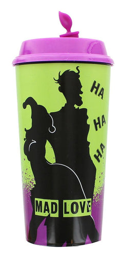 DC Comics Mad Love Harley Queen and Joker Travel Cup