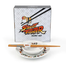 Load image into Gallery viewer, Street Fighter Sushi Set with Chopsticks