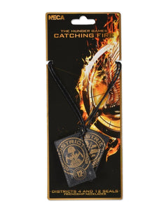 Hunger Games Catching Fire Friendship Districts 4 & 12 Seals Necklace