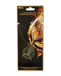 Hunger Games Catching Fire V2 Mockingjay Necklace W/Secret Quote