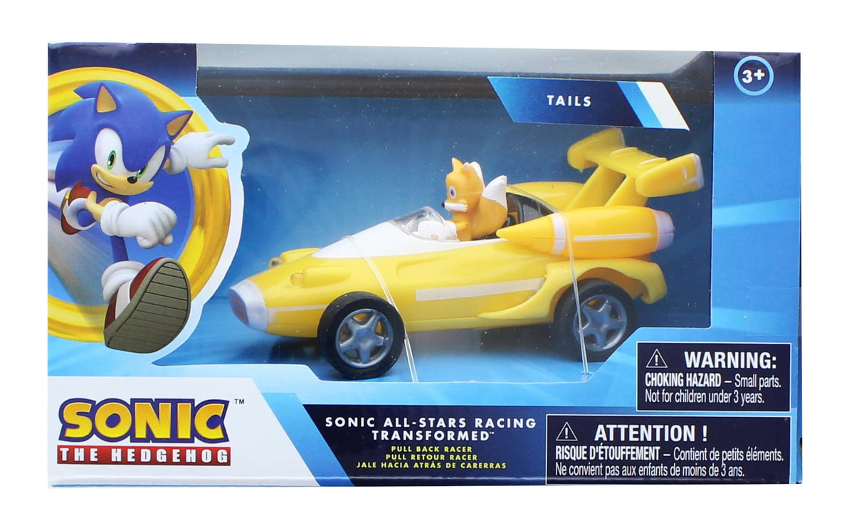 Sonic the Hedgehog All Stars Racing 3.5 Inch Pull Back Tails Car