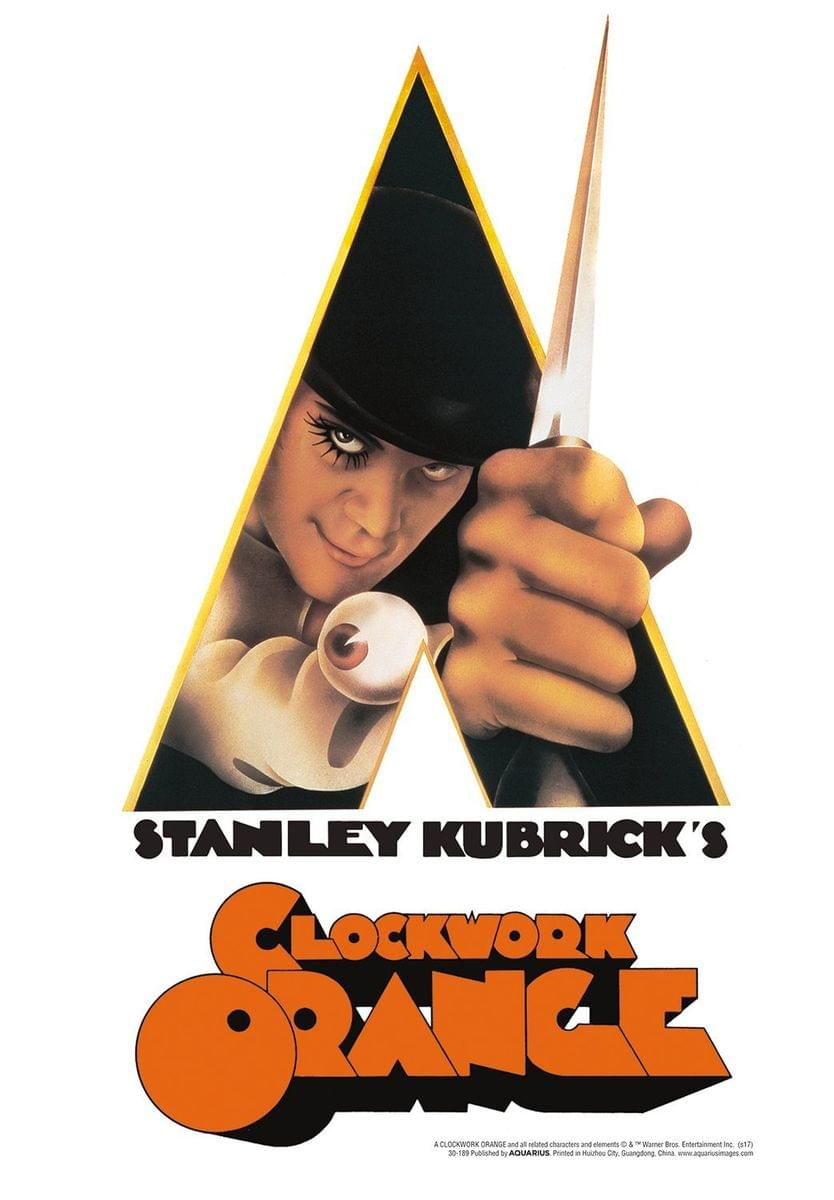 A Clockwork Orange Knife Tin Sign