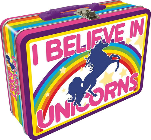 I Believe In Unicorns Tin Lunch Box
