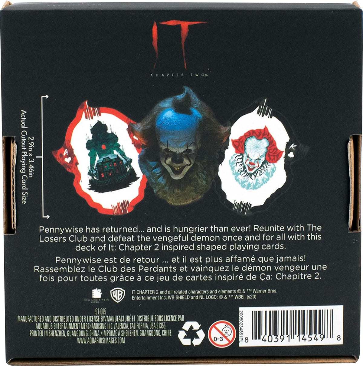 IT: Chapter 2 Pennywise Shaped Playing Cards | 52 Card Deck + 2 Jokers