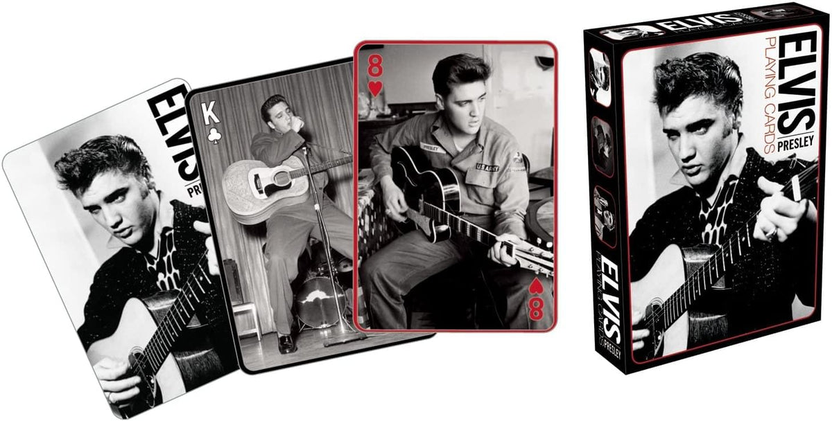 Elvis Presley Black & White Playing Cards | 52 Card Deck + 2 Jokers