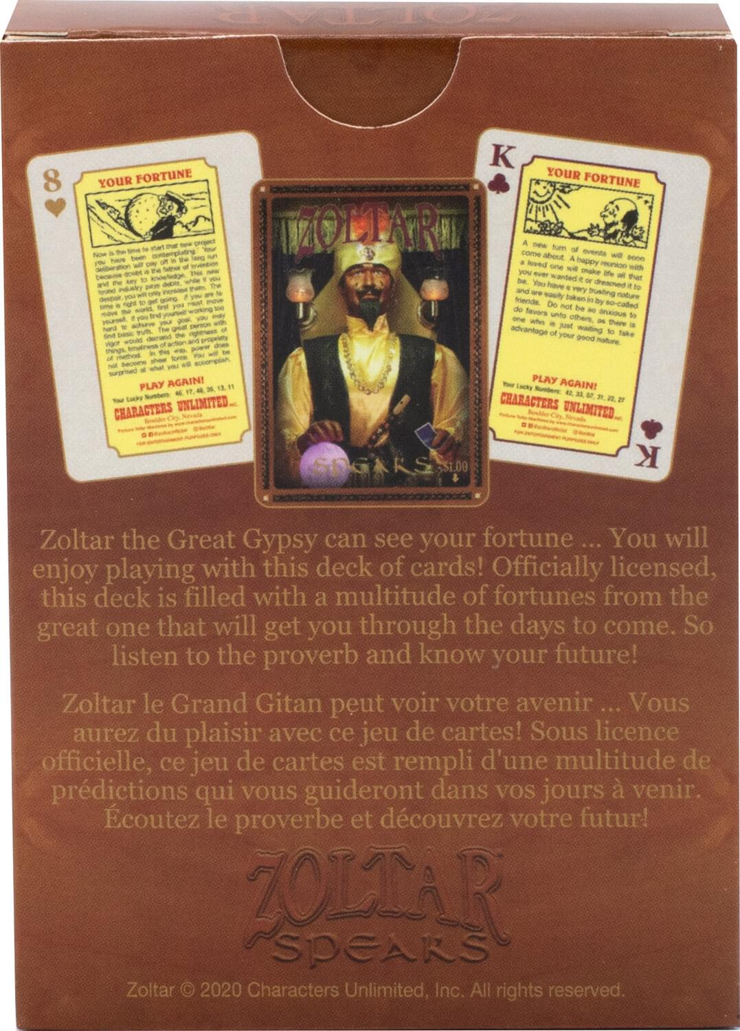 Zoltar Fortunes Playing Cards | 52 Card Deck + 2 Jokers