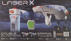 Laser X Real Life Laser Gaming Experience - 2 Blasters + Gaming Tower