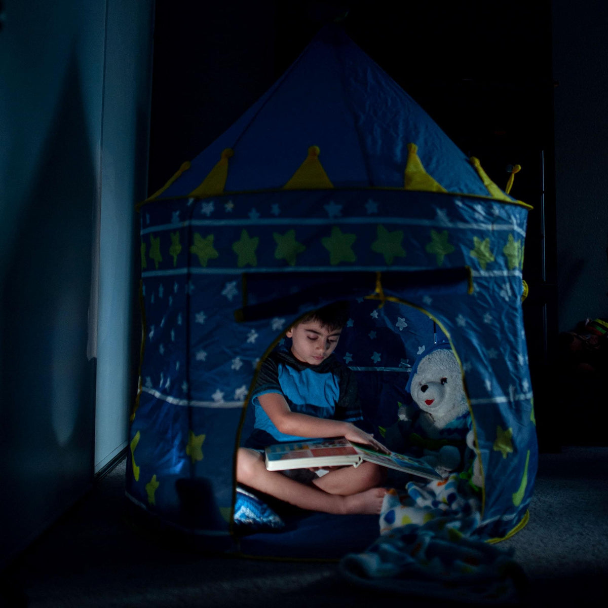 Blue Fantasy Castle Play Tent | 54 x 41 Inches