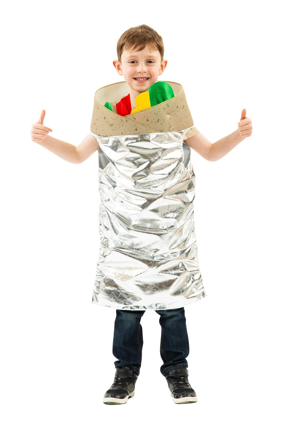 Burrito Costume For Kids | Easy Pull Over Design | Sized To Fit Most Children