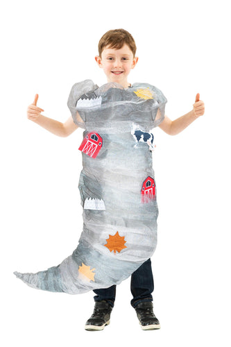 Tornado Costume For Children And Teenagers One Size Fits Most
