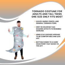 Load image into Gallery viewer, Tornado Costume For Adults and Tall Teens One Size Only Fits Most