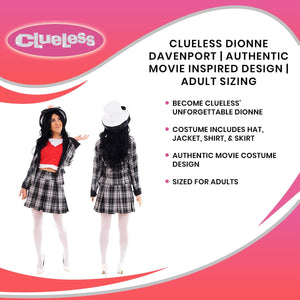 Clueless Dionne Davenport | Authentic Movie Inspired Design | Sized For Adults
