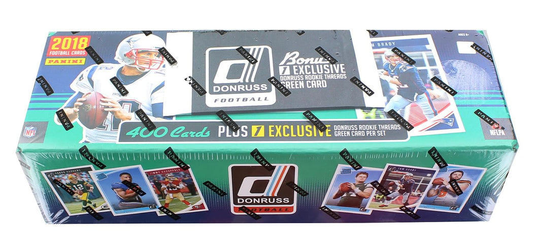 NFL Panini 2018 Donruss Football Trading Card Set with Rookie Threads Card