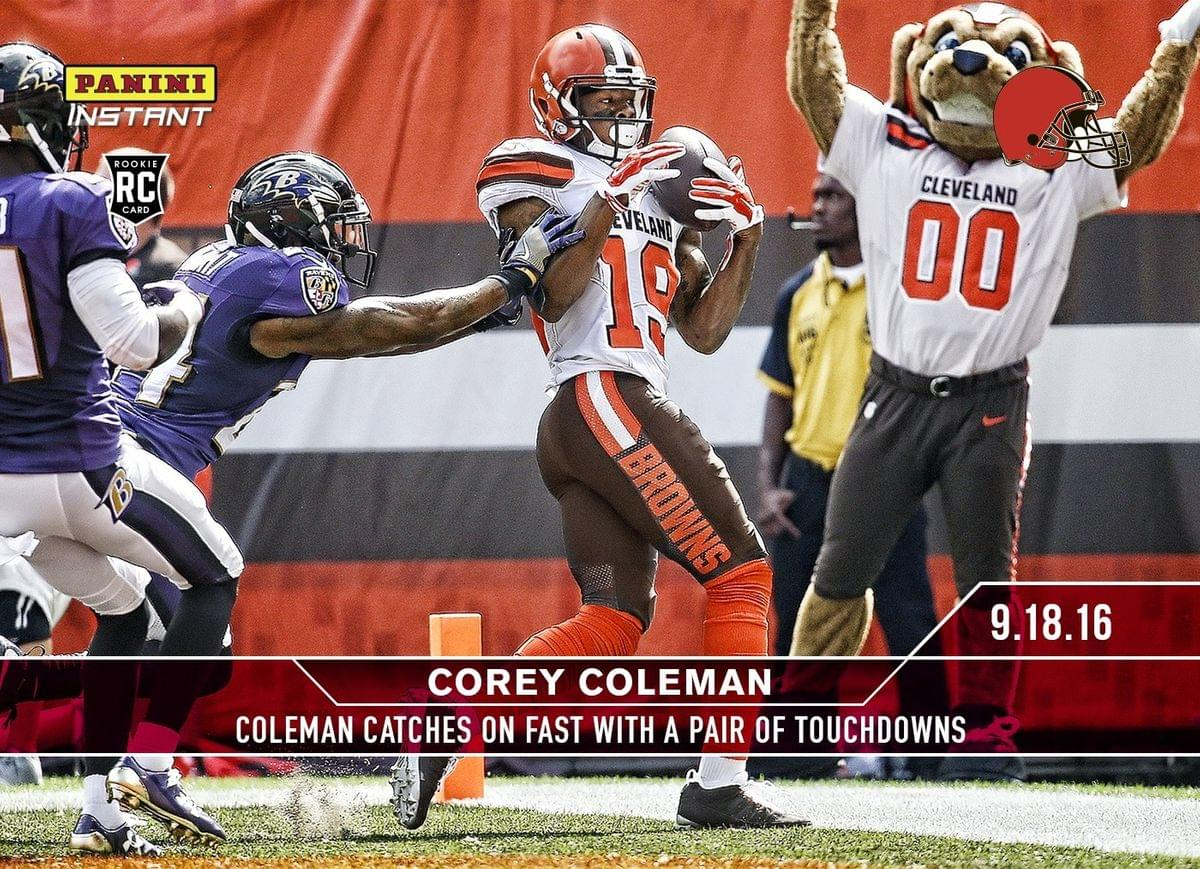 NFL Cleveland Browns Corey Coleman #34A 2016 Panini Instant Base Card