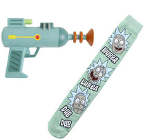 Load image into Gallery viewer, Rick and Morty Knee High Socks and Foam Costume Laser Gun Bundle
